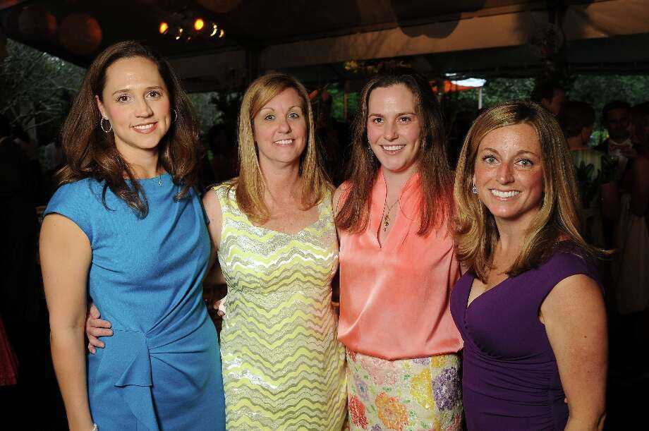 From left: Summer Shaw, Jena Wynn, Annie Atherton and Megan Lawrence at the annual Bayou Bend Garden Party Sunday April 7, 2013.(Dave Rossman photo) Photo: Dave Rossman, For The Houston Chronicle / © 2013 Dave Rossman