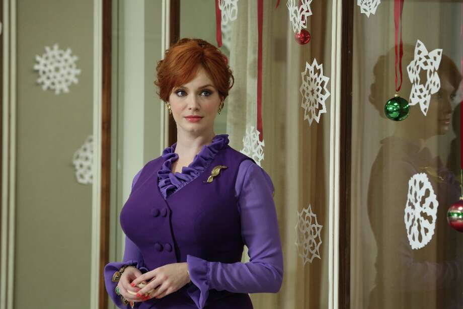 "Joan Harris (Christina Hendricks) in ""Mad Men,\"" Season 6, Episode 1. Ready for her close-up. Photo: Michael Yarish/AMC"