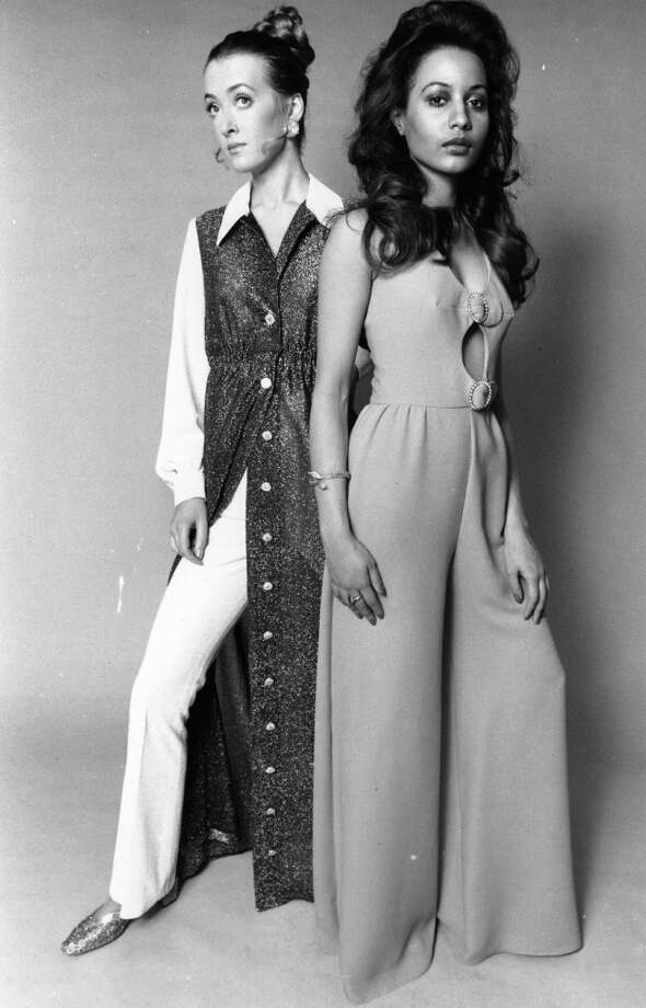 Feb. 1, 1969:  Models showing eveningwear. Photo: Evening Standard, Getty Images / Hulton Archive