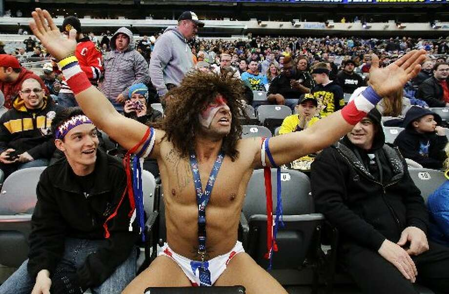 A fan dresses up as the Ultimate Warrior.