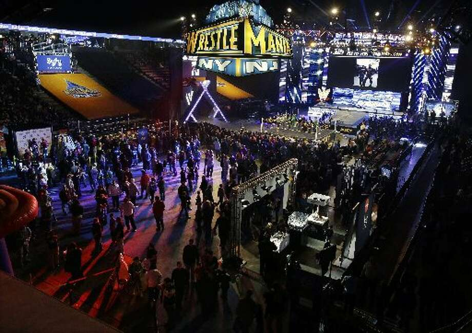 Fans attend the festivities before the big event.