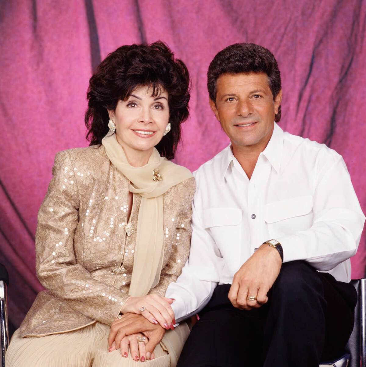 """Annette Funicello, America's sweetheart of the 1950s and '60s, and Frankie Avalon, a teen idol of that era, appear as themselves in """"A Dream is a wish your heart makes."""" on CBS."""
