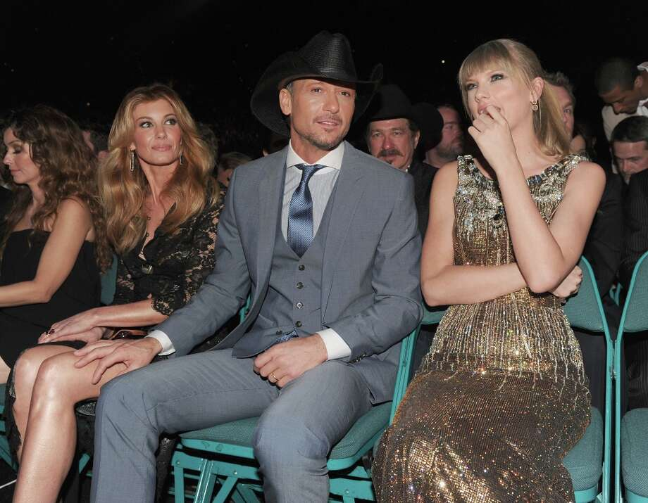 Singers Faith Hill, Tim McGraw and Taylor Swift attend the 48th Annual Academy of Country Music Awards at the MGM Grand Garden Arena on April 7, 2013 in Las Vegas, Nevada. Photo: Kevin Winter/ACMA2013, Getty Images For ACM / Kevin Winter/ACMA2013