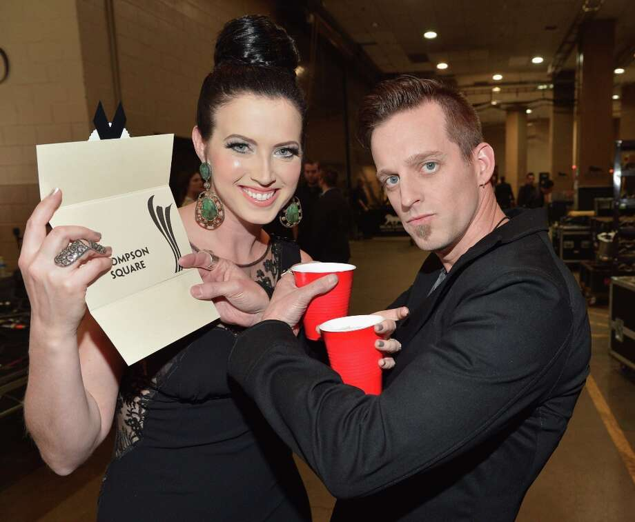 (L-R) Singers Shawna Thompson and Keifer Thompson of Thompson Square attend the 48th Annual Academy of Country Music Awards at the MGM Grand Garden Arena on April 7, 2013 in Las Vegas, Nevada. Photo: Rick Diamond/ACMA2013, Getty Images For ACM / Rick Diamond/ACMA2013