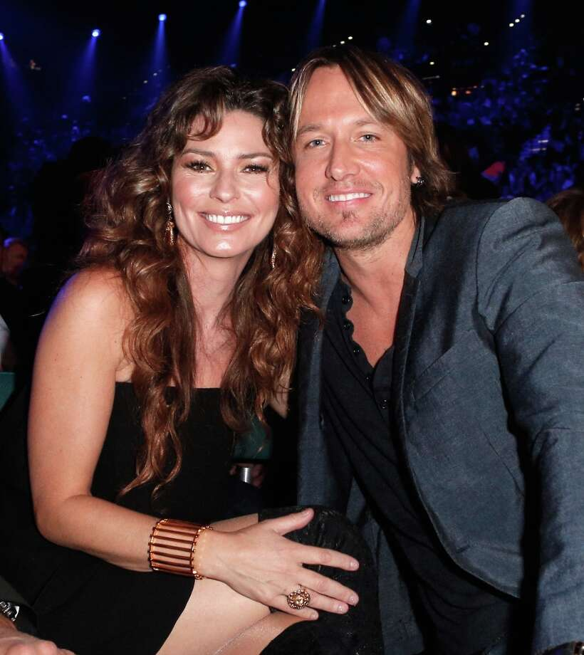 (L-R) Singers Shania Twain and Keith Urban attend the 48th Annual Academy of Country Music Awards at the MGM Grand Garden Arena on April 7, 2013 in Las Vegas, Nevada. Photo: Mike Windle/ACMA2013, Getty Images For ACM / Mike Windle/ACMA2013