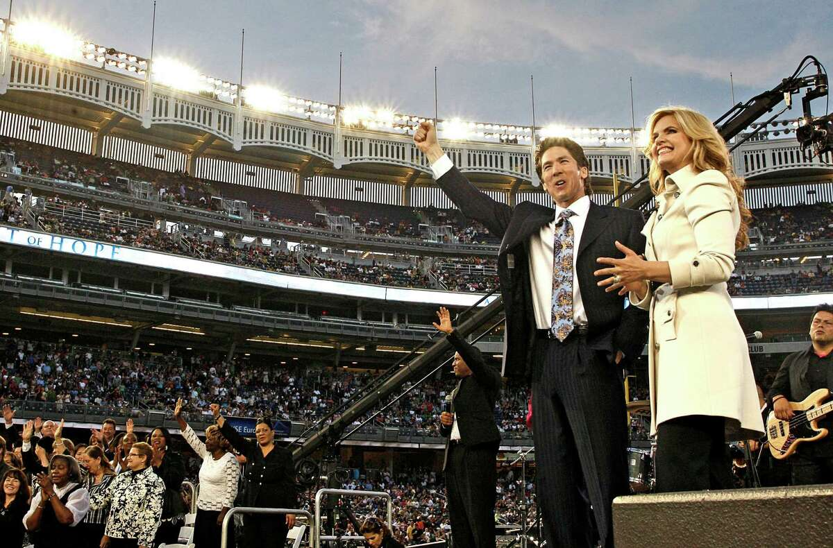 Joel Osteen and his wife, Victoria Osteen, hosted