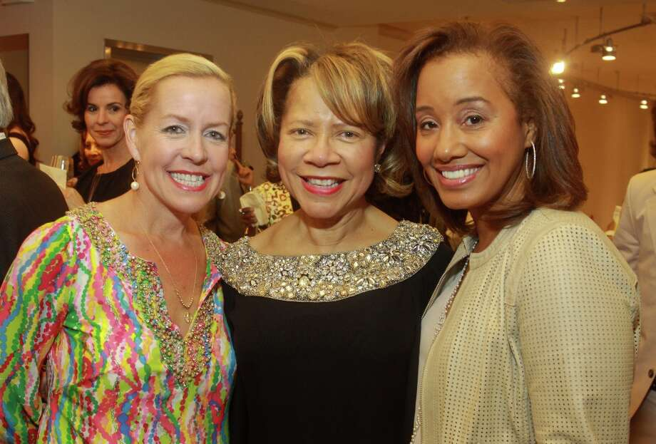 Best Dressed honorees Rosemary Schatzman, from left, Merele Yarborough and Arvia Few at the special event showing Los Angeles designer Kevan Hall at Elizabeth Anthony Esther Wolf in Uptown Park. Photo: Gary Fountain, For The Chronicle / Copyright 2013 Gary Fountain