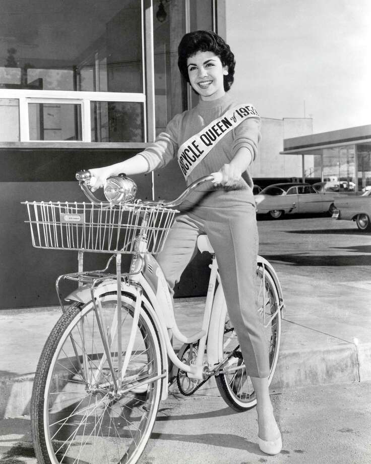 American actress Annette Funicello on a Schwinn Bicycle, 1956. Photo: Silver Screen Collection, File / 2012 Silver Screen Collection