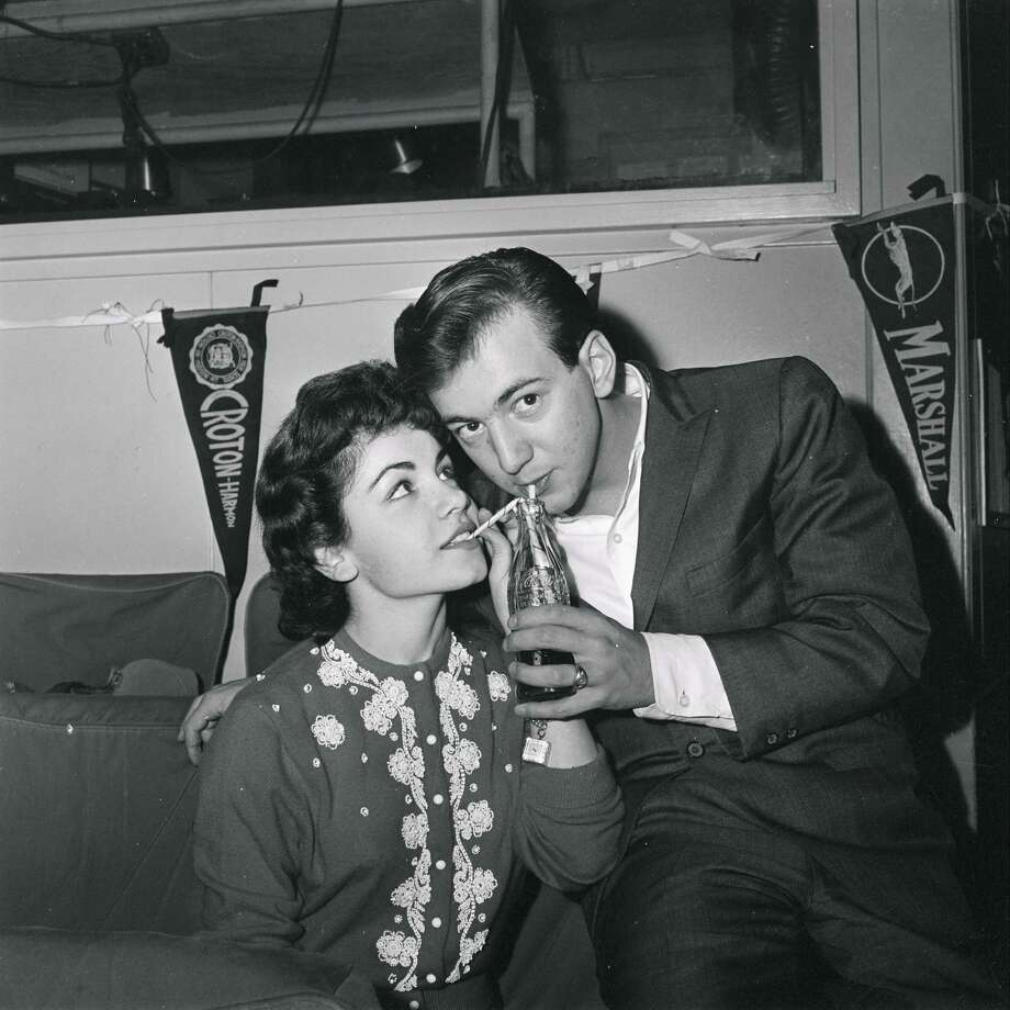"Annette Funicello and Bobby Darin on the set of ""American Bandstand"" in 1959. Photo: ABC Photo Archives, File / 2010 American Broadcasting Companies, Inc."