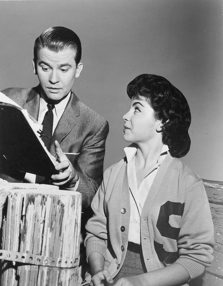 """Dick Clark, Annette Funicello on the ABC Television Network dance show """"American Bandstand"""" in 1959. Photo: ABC Photo Archives, File / American Broadcasting Companies, Inc."""