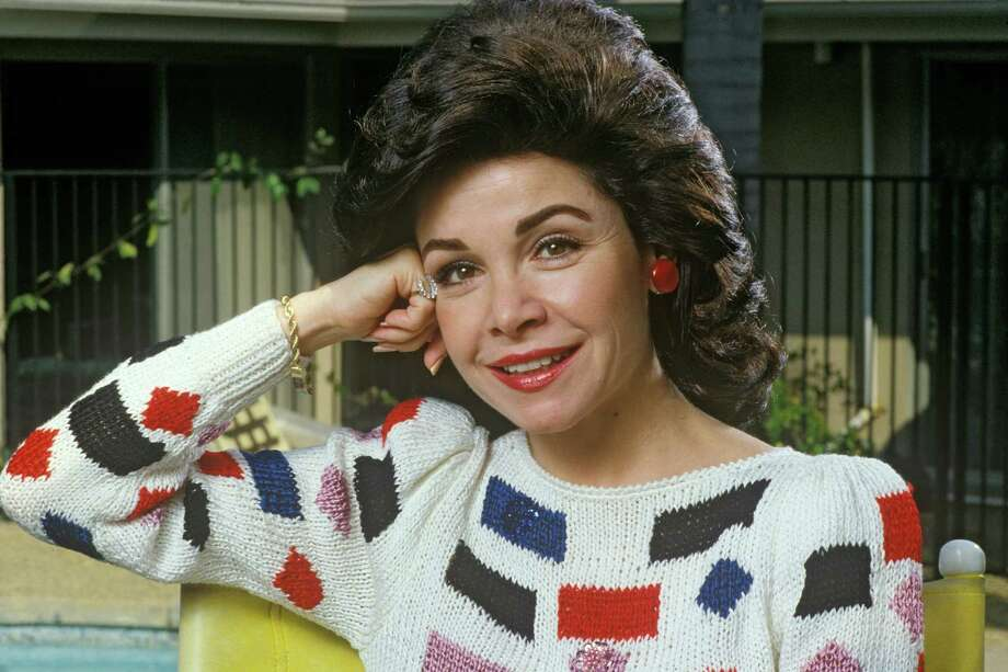 Actress and former Disney Mousketeer, Annette Funicello, poses in 1988 in Thousand Oaks, California. Photo: George Rose, File / 1988 George Rose
