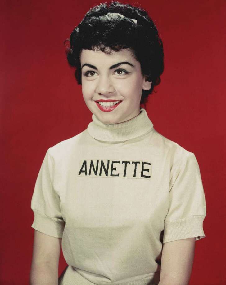 "Studio portrait of American actor and Mouseketeer Annette Funicello, child star of the television show ""The Mickey Mouse Club"" in 1955. Photo: Hulton Archive, File / Archive Photos"