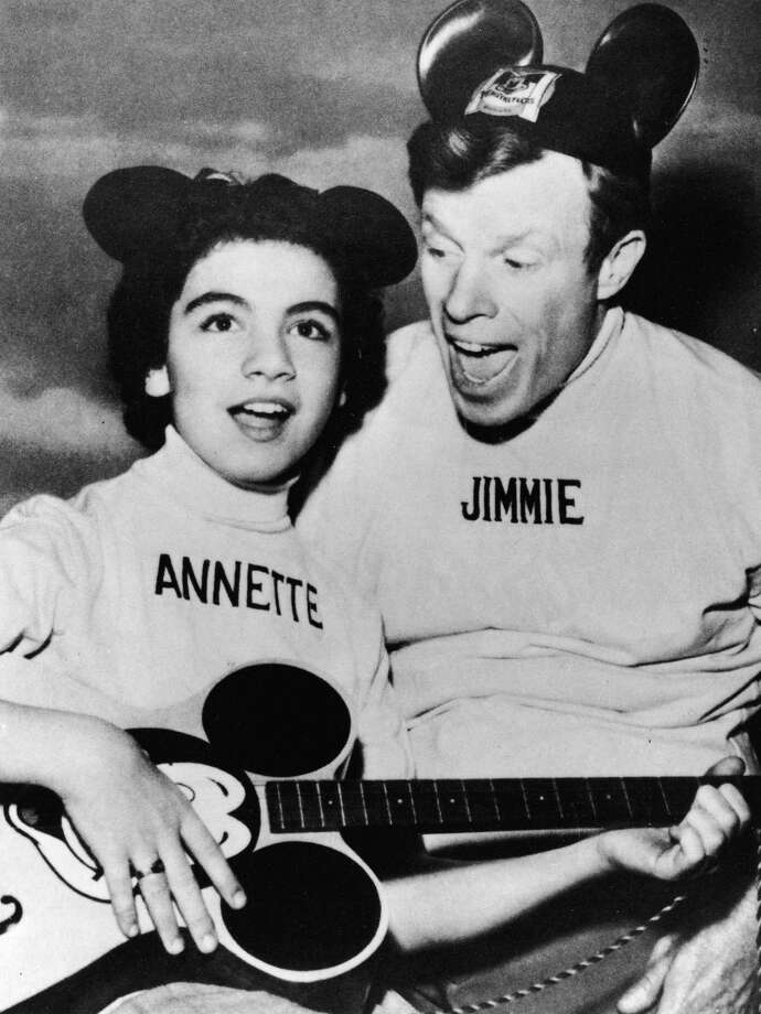 "Annette Funicello, a former ""Mouseketeer,"" shown here with Jimmie Dodd, in 1957, died of complications of multiple sclerosis on April 8, 2013. Read her obituary. Photo: Pictorial Parade, File / Archive Photos"