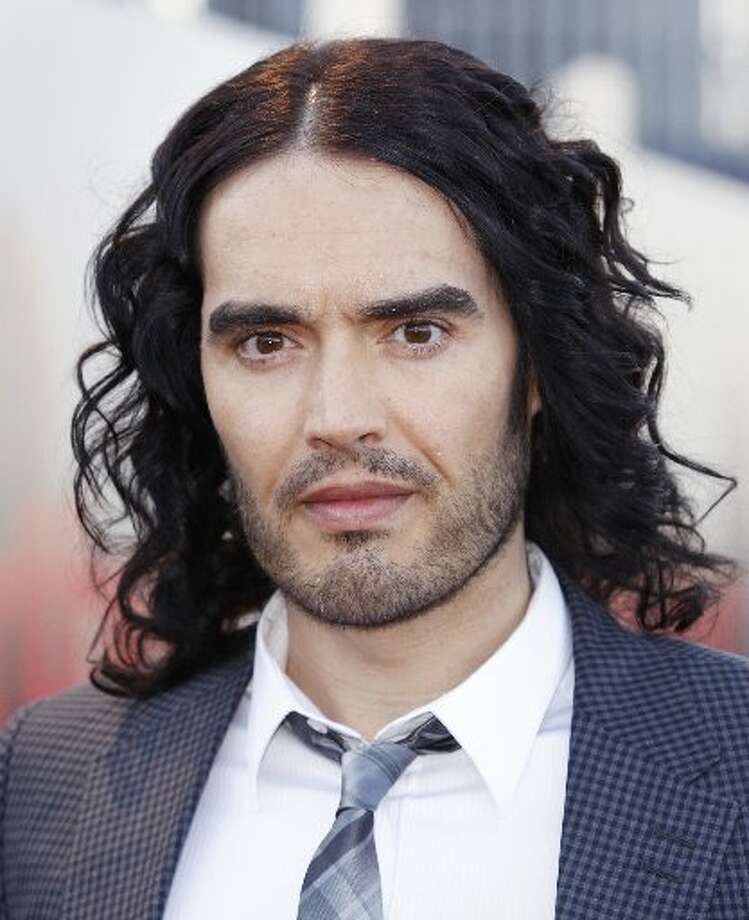 Actor/comedian Russell Brand has been a vegetarian since he was 14 and became a vegan in 2011 after watching the documentary 'Forks Over Knives.' He was voted PETA's Sexiest Vegetarian in 2011.