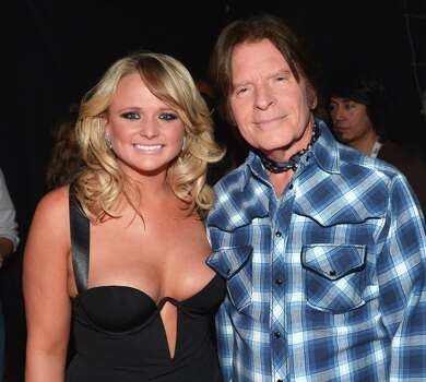(L-R) Singer Miranda Lambert and musician John Fogerty attend the 48th Annual Academy of Country Music Awards at the MGM Grand Garden Arena on April 7, 2013 in Las Vegas, Nevada. Photo: Rick Diamond/ACMA2013, Getty Images For ACM / Rick Diamond/ACMA2013