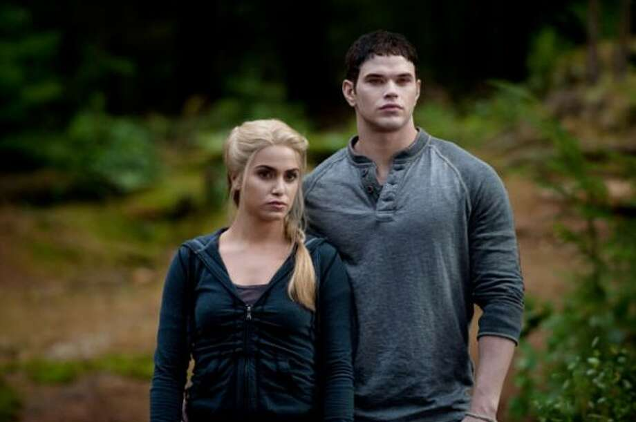 "The ""Twilight\"" books inspired interest in the names Bella, Edward and Jacob, but oddly enough Emmett, played by Kellan Lutz on the right, is the most popular name this year. The girl-versions, Emma and Emily, are also popular.