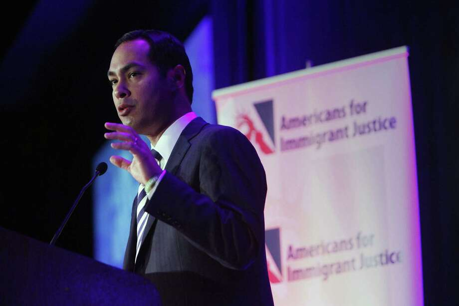 Mayor Julián Castro delivers an address at the Americans for Immigrant Justice annual meeting in Miami. A reader who says the mayor's travel is extensive is happy to see Castro's travel records scrutinized. Photo: John Van Beekum / For The Express-News
