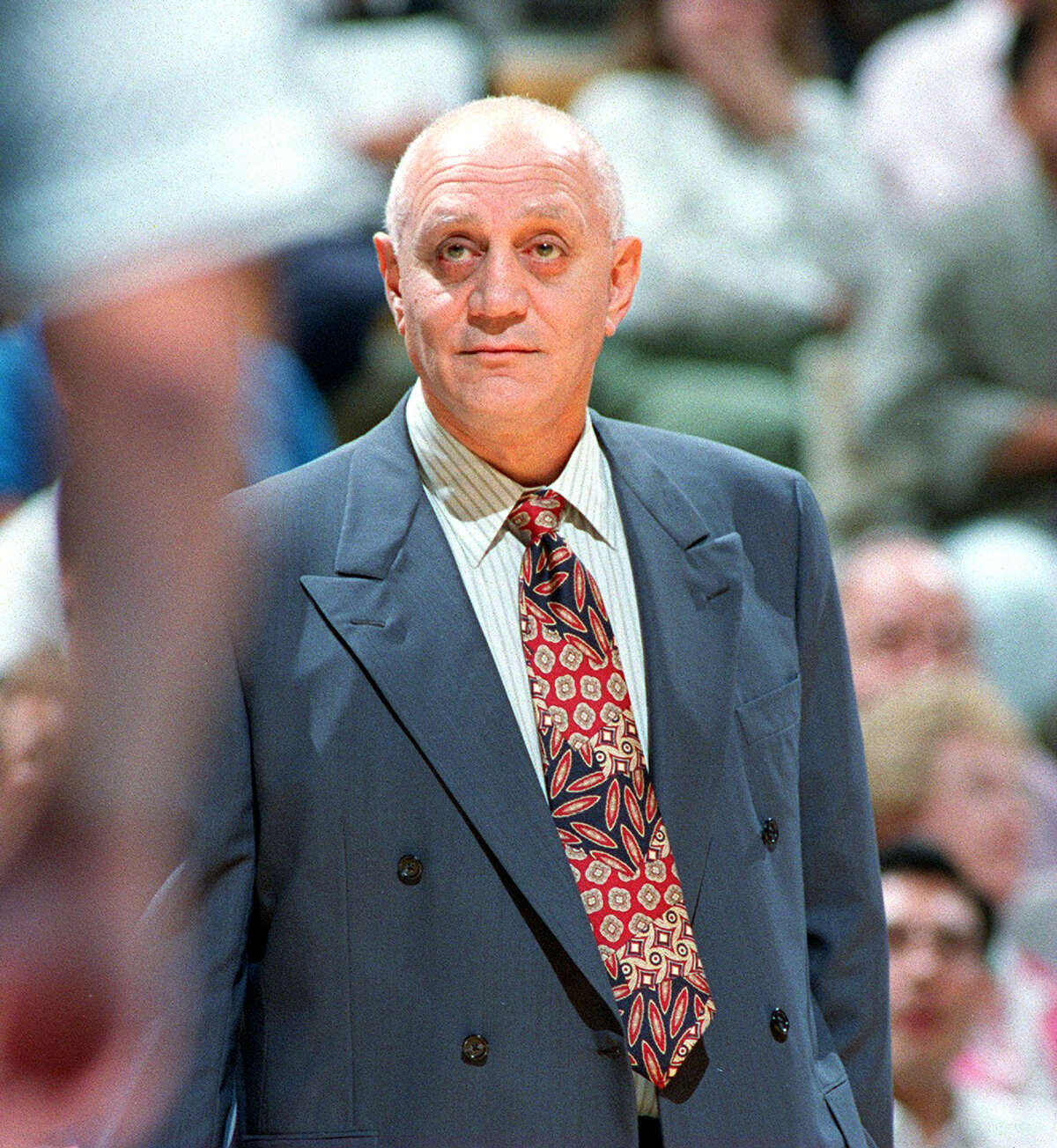 Spurs coach Jerry Tarkanian on Oct. 22, 1992. John Davenport / San Antonio Express-News