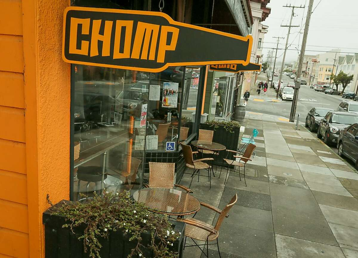The exterior of Chomp N Swig restaurant in San Francisco, Calif., is seen on Saturday, April 6th, 2013.