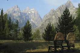 The view is the prime attraction at Jenny Lake Lodge at Grand Teton National Park in Wyoming. (Josh Noel/Chicago Tribune/MCT)