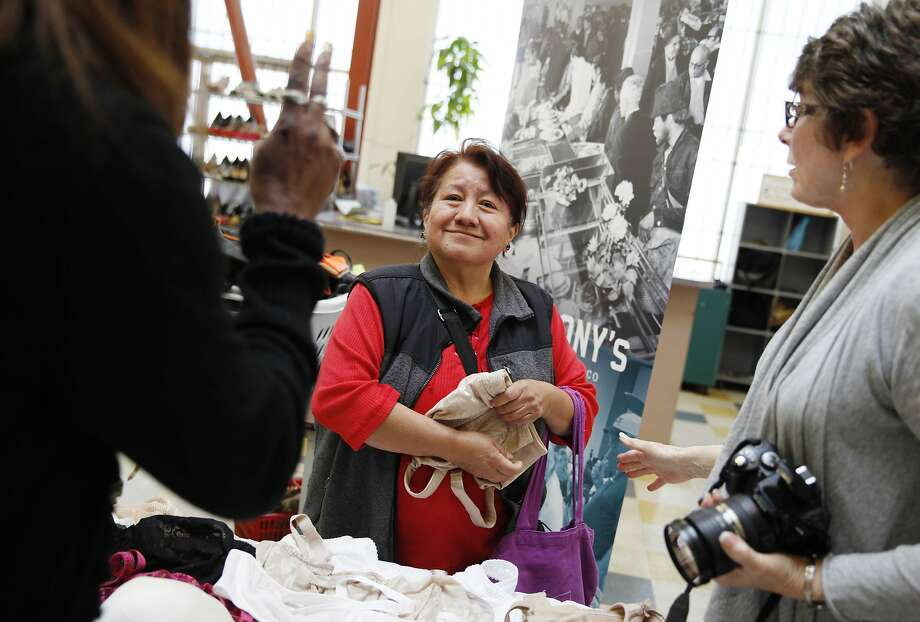 Two donated bras made this woman's day. Photo: Lea Suzuki, The Chronicle
