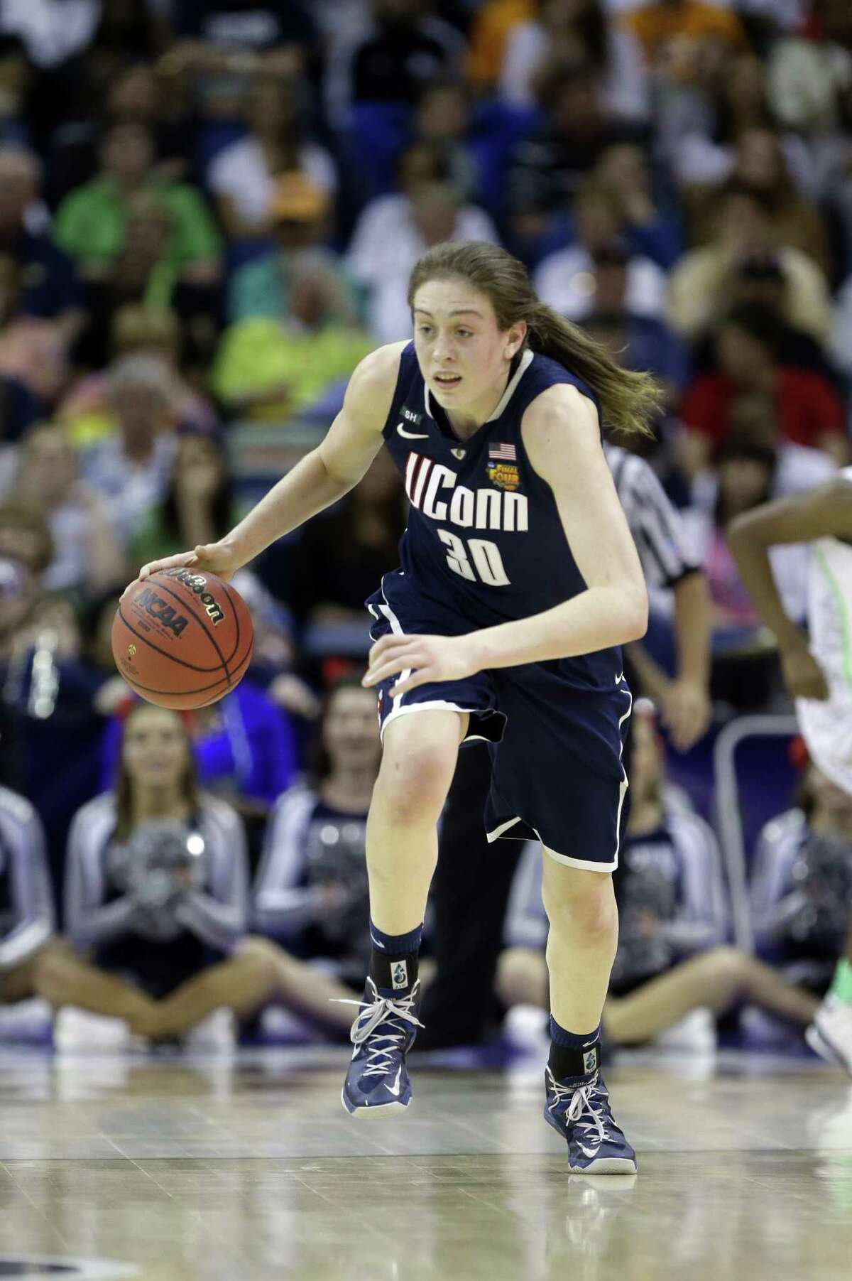 UConn's Breanna Stewart has scored 82 points in four tourney games after sitting out in the first round.