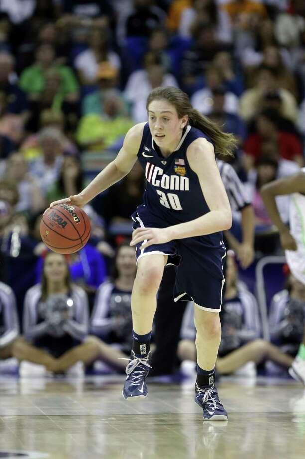 UConn's Breanna Stewart has scored 82 points in four tourney games after sitting out in the first round. Photo: Gerald Herbert / Associated Press