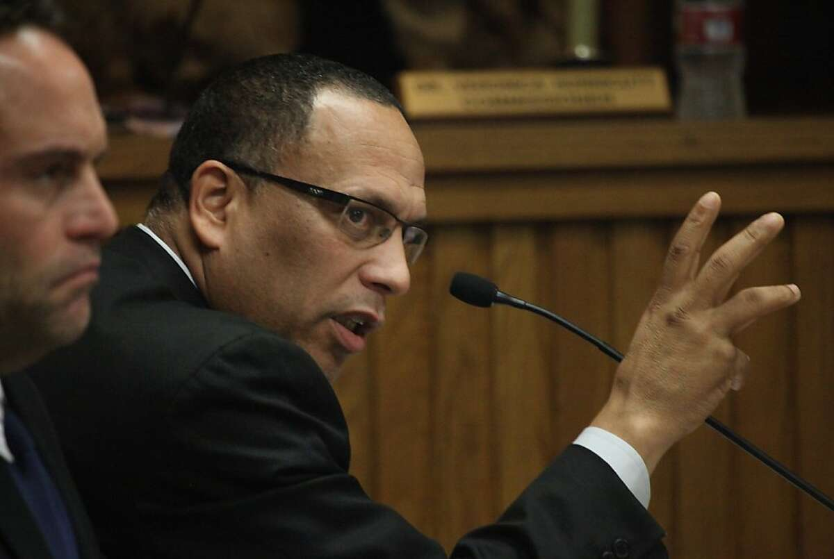 San Francisco Housing Authority Executive Director Henry Alvarez speaks during a Housing Authority Commission meeting on Thursday, January 24, 2013 in San Francisco, Calif.