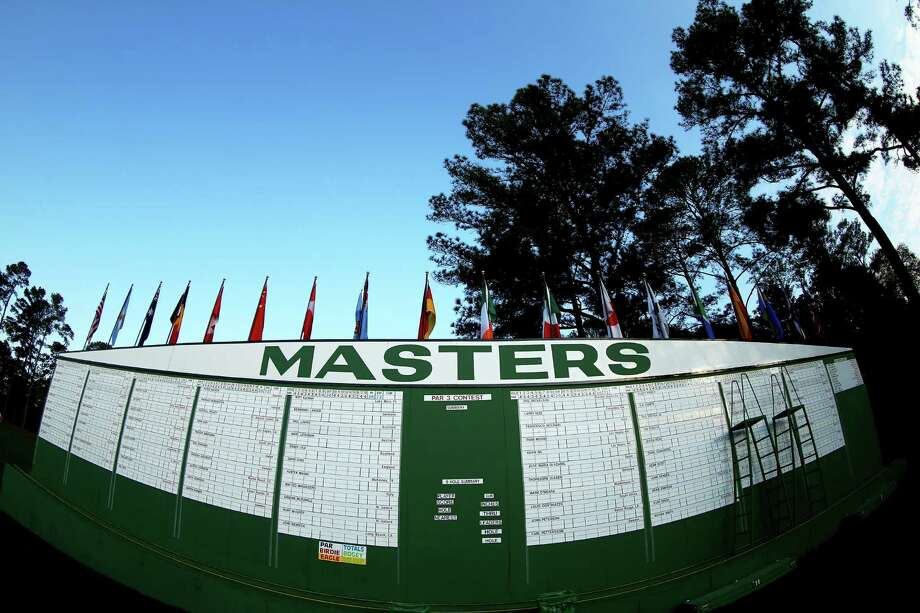 AUGUSTA, GA - APRIL 08:  The leaderboard is seen during a practice round prior to the start of the 2013 Masters Tournament at Augusta National Golf Club on April 8, 2013 in Augusta, Georgia.  (Photo by Mike Ehrmann/Getty Images) Photo: Mike Ehrmann