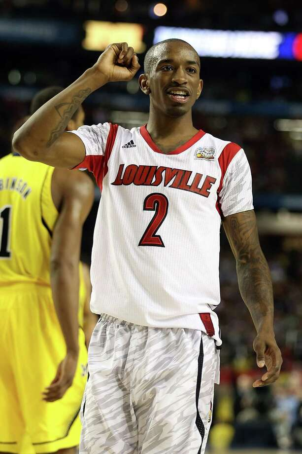 Louisville 82, Michigan 76Road to Atlanta: Look back at the full March Madness bracketLive updates:Follow all the Final Four actionATLANTA, GA - APRIL 08:  Russ Smith #2 of the Louisville Cardinals celebrates in the final minutes of the second half against the Michigan Wolverines during the 2013 NCAA Men's Final Four Championship at the Georgia Dome on April 8, 2013 in Atlanta, Georgia. Photo: Andy Lyons, Getty Images / 2013 Getty Images