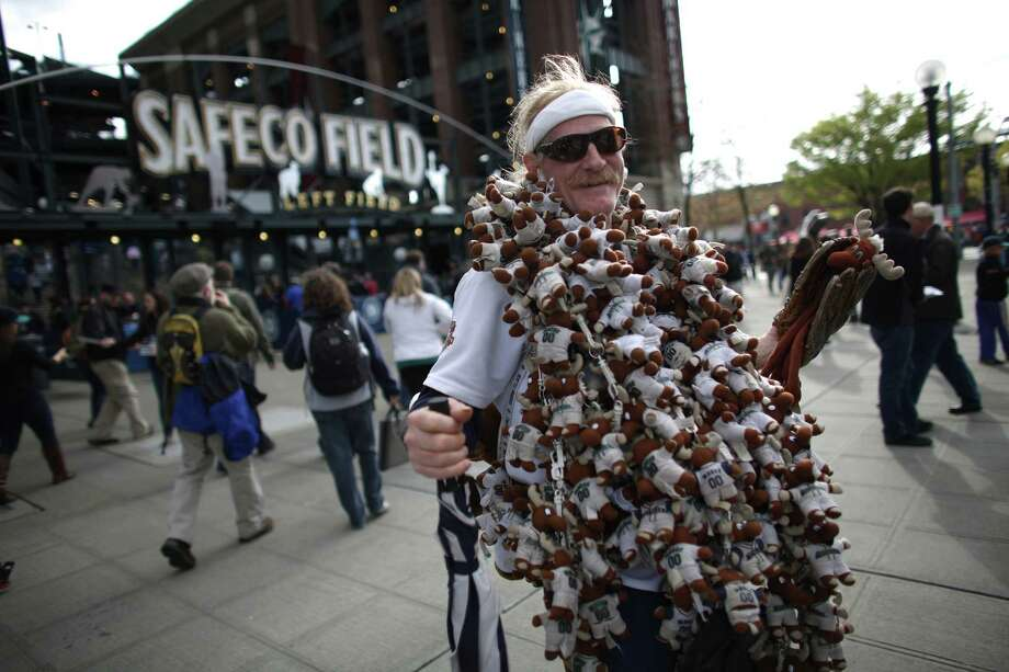 """Mooseman"" George King shows his collection during opening day. Photo: JOSHUA TRUJILLO / SEATTLEPI.COM"