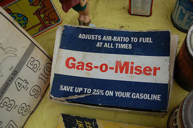 Gas savings products increase gas mileage:  Some products do help improve gas mileage, but a bulk of them don't do what they say. The Federal Trade Commission tested more than 100 devices and found 25 percent didn't improve gas mileage. A few even damaged the engines. Photo: Improbcat, Flickr