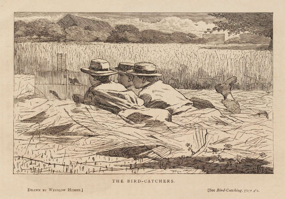 After Winslow Homer, The Bird-Catchers, Our Young Folks 3 (Aug. 1867): frontispiece. Wood engraving on cream wove paper, 5 3/16 x 8 1/4 in. (13.1 x 20.9 cm). Sterling and Francine Clark Art Institute, Williamstown, Massachusetts, 1955.4457