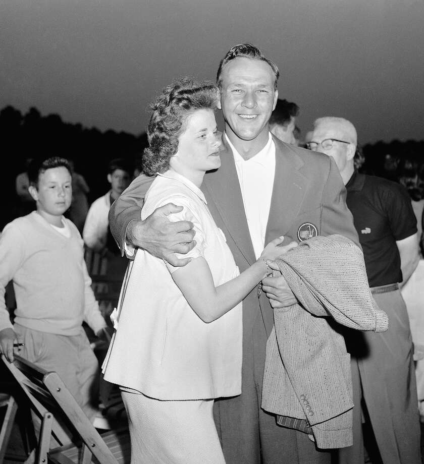Arnold Palmer and his wife, Winnie, make a happy couple after the young Pennsylvania professional won the Masters Golf Tournament in Augusta, Ga., April 6, 1958. Photo: Horace Cort, Associated Press / AP1958