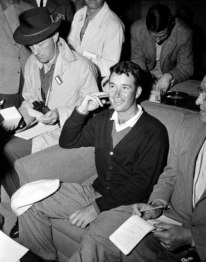 Pro golfer Ken Venturi of San Francisco is shown during an interview after the second round of the Masters Golf Tournament at Augusta, Ga., on April 4, 1958. Photo: Associated Press / AP1958