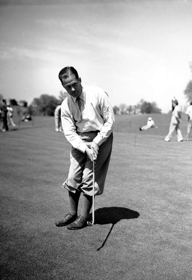 Bobby Jones hits another par-breaking round in Augusta, Ga. on April 2, 1936 in preparation for his annual Masters golf tournament. Photo: Associated Press / 1936 AP