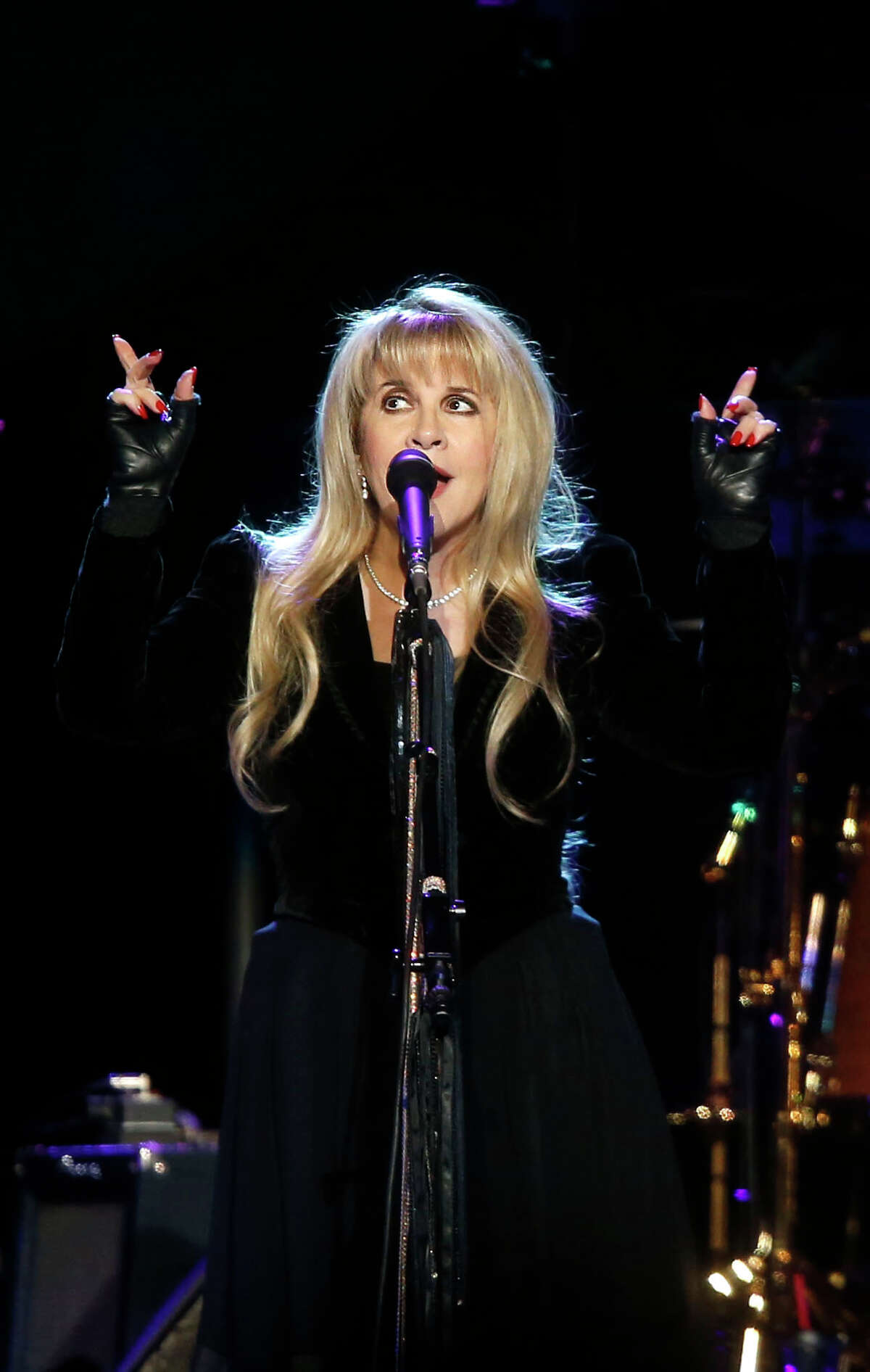 Singer Stevie Nicks performs during a Fleetwood Mac concert at Madison Square Garden, Monday, April 8, 2013, in New York.