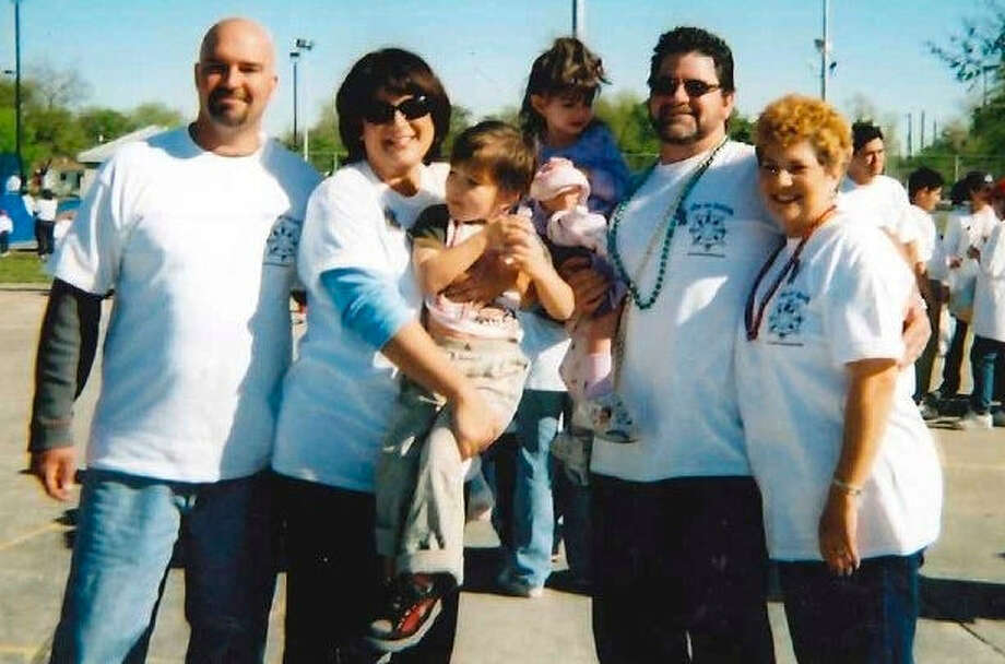 North Central San Antonian Kim Reince (second from left) and her family are seen here at the first Walk for Autism. Photo: Courtesy Photo