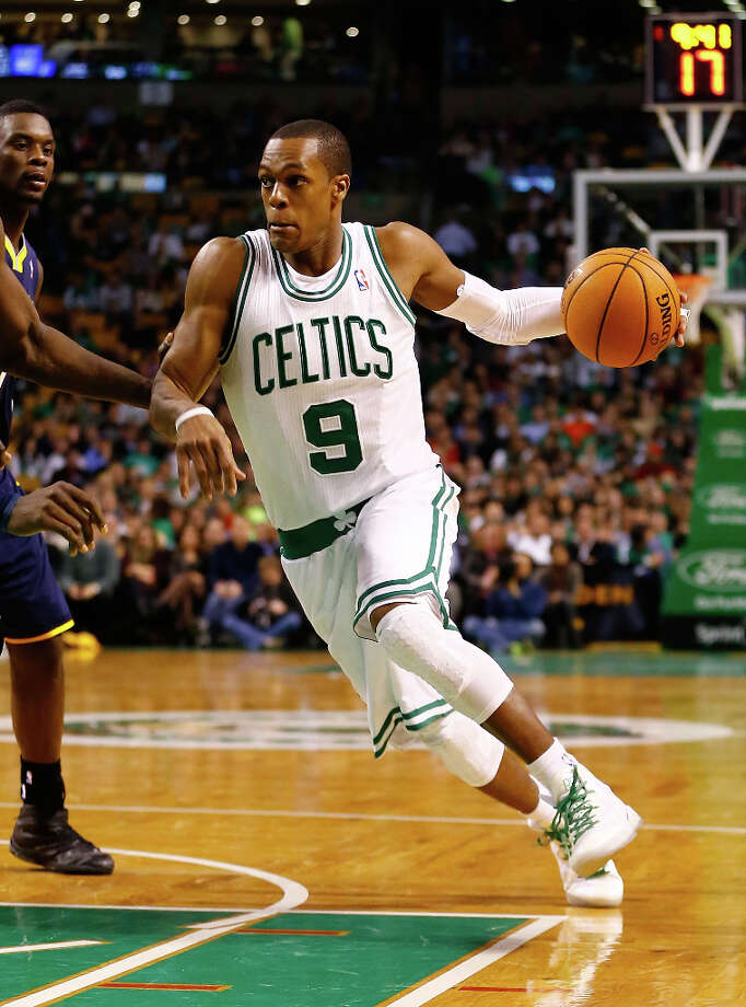 8. Rajon Rondo  The point guard had his season end early due to injury, but Boston Celtics fans still wear his name off the court. Photo: Jared Wickerham / 2013 Getty Images