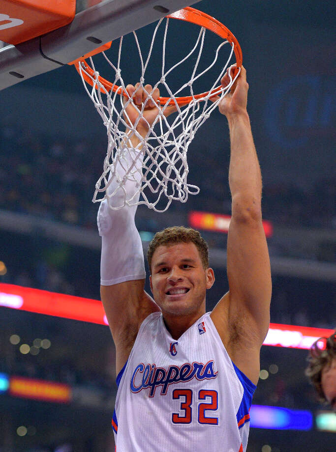 10. Blake Griffin  Whether throwing down a ferocious dunk or cracking jokes in car commercials, the Los Angeles Clippers forward has maintained likability during his three years in the NBA. Photo: Mark J. Terrill