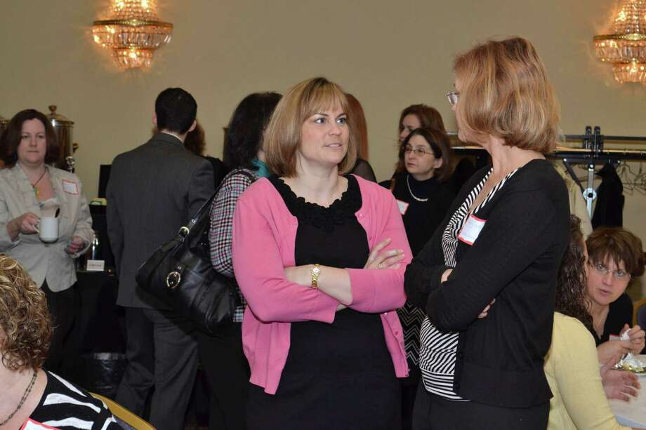 Were you Seen starting your day at the Women at Work Magazine Connect Event: Managing your Personal Brand with Social Media, at the Albany Marriott in Colonie on Tuesday, April 9, 2013? The event was held in conjunction with the Times Union Job Fair which continues today (April 9) 10 a.m. to 4 p.m. at the Marriott on 189 Wolf Road, Colonie. Photo: Colleen Ingerto