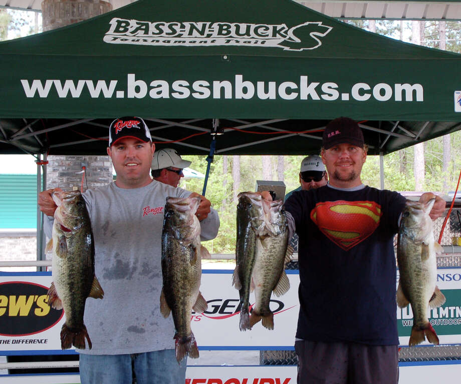 Kris Wilson and Charles Bebber won 1st place and $8,000 with the only limit brought in exceeding the 20 lb mark  Photo by Patty Lenderman, Lakecaster