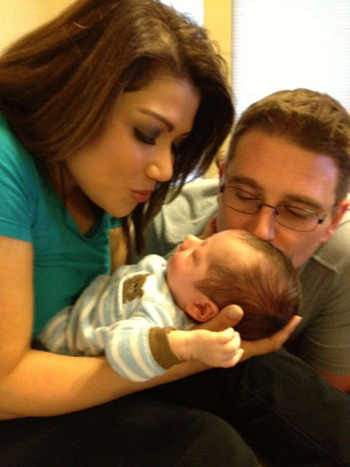 WOAI anchor Elsa Ramon and husband Jordan are enjoying time with new baby boy Zev. Photo: Courtesy Elsa Ramon