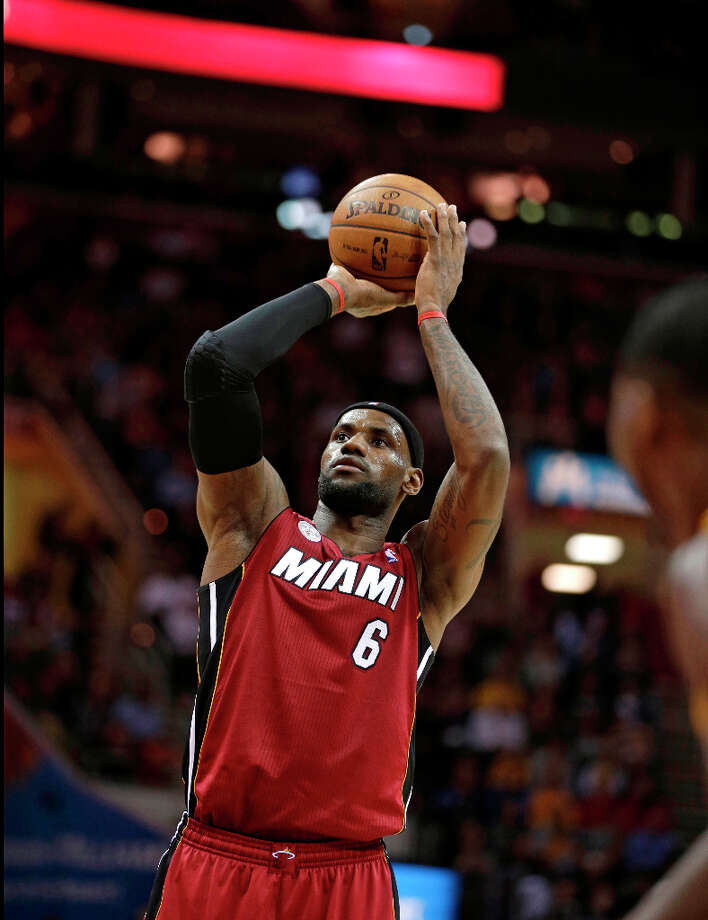 2. LeBron James  Before Anthony, the Miami Heat forward had the most popular jersey. Photo: Tony Dejak