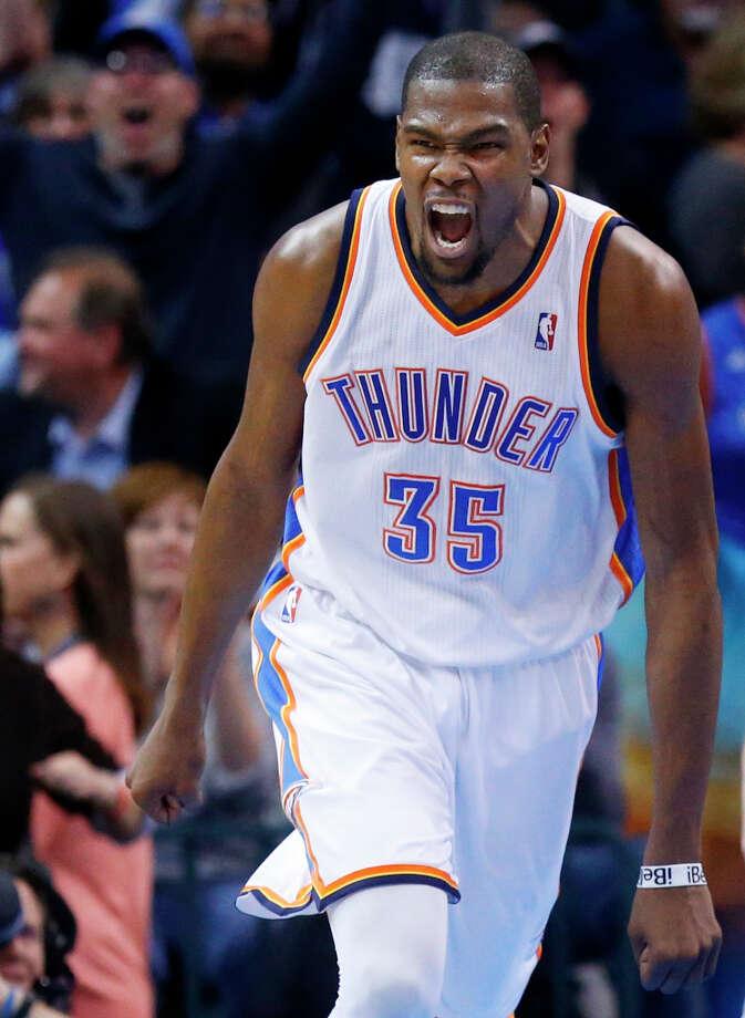 3. Kevin Durant  The Oklahoma City Thunder forward is averaging more than 28 points this season. Photo: Sue Ogrocki