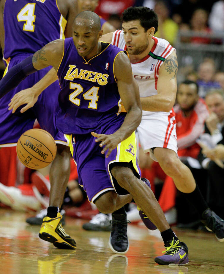 4. Kobe Bryant  The Los Angeles Lakers aging superstar is still a fan favorite. Photo: Melissa Phillip / 2012 Houston Chronicle