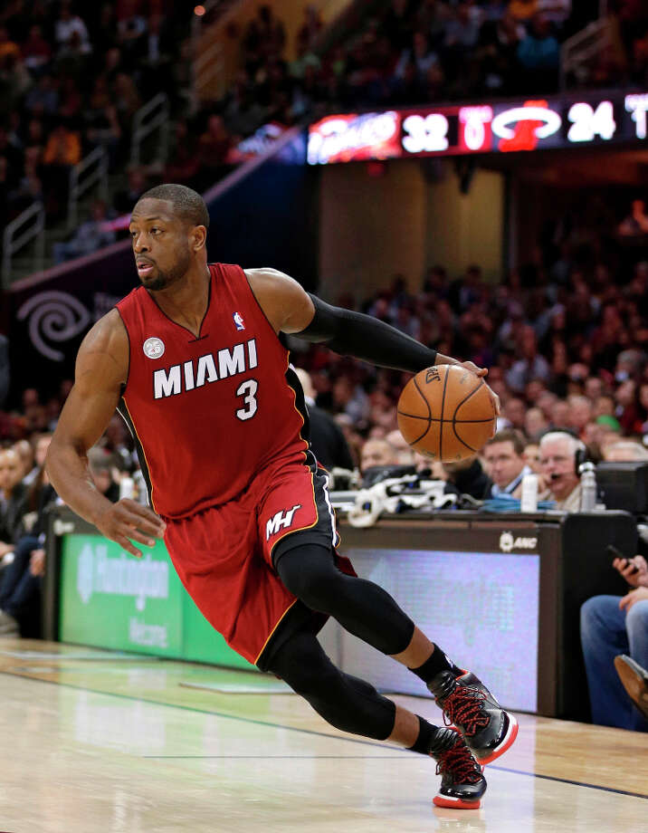 7. Dwyane Wade  The guard is now the second-most popular player on the Miami Heat. Photo: Tony Dejak