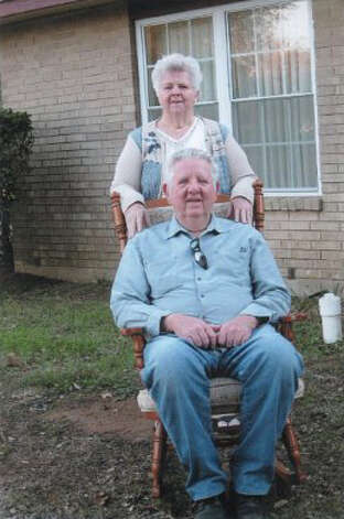 Now: January, 2013 - Kenneth Dale Hicks, 68, and Doris Jo Hicks Colman outside her home off Hwy. 87E. Photo: Courtesy Photos