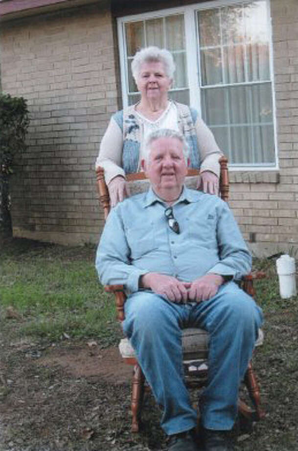 Now:January, 2013 - Kenneth Dale Hicks, 68, and Doris Jo Hicks Colman outside her home off Hwy. 87E. Photo: Courtesy Photos