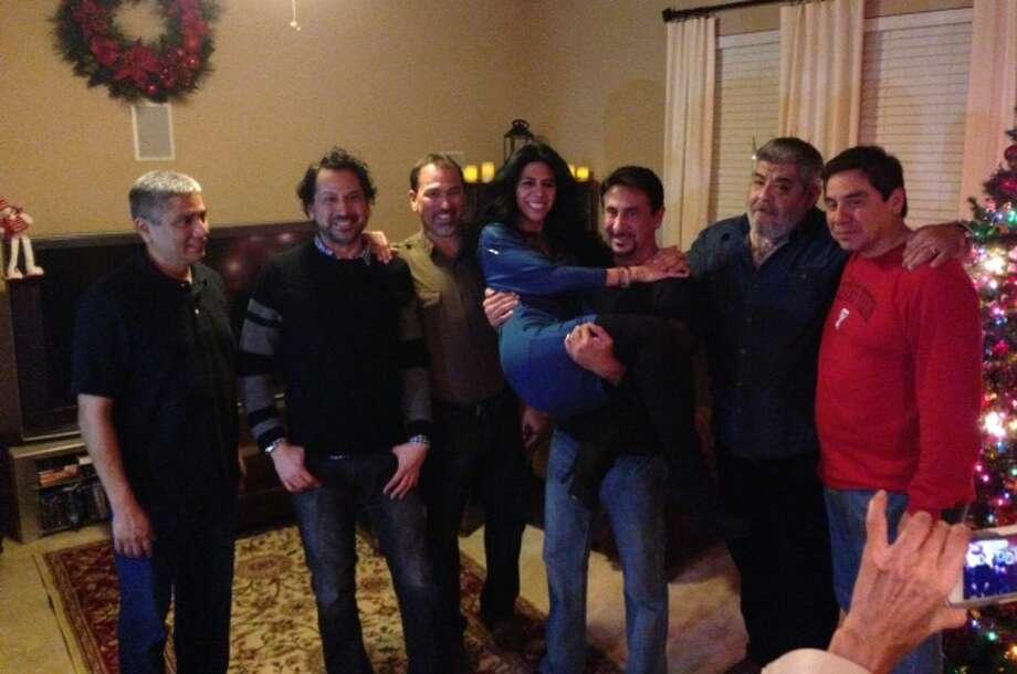Now: 2012 - Johnny Valdez, Lloyd Martinez, Steven Martinez, Yvonne Falcon, Tony Valdez, David Falcon, and Paul Valdez Photo: Courtesy Photos